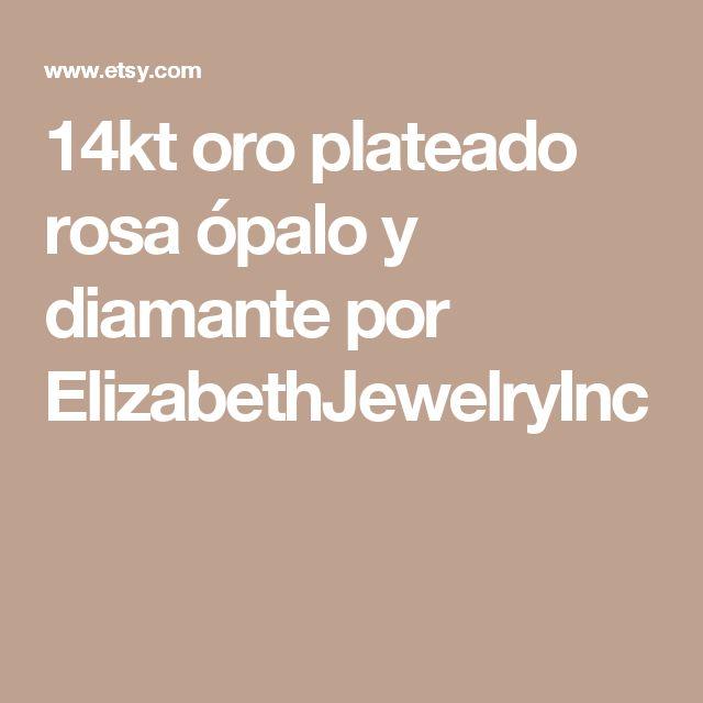 14kt oro plateado rosa ópalo y diamante por ElizabethJewelryInc