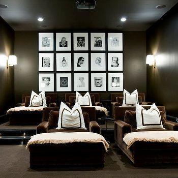Photo Walls, Contemporary, media room, Melanie Turner Interiors