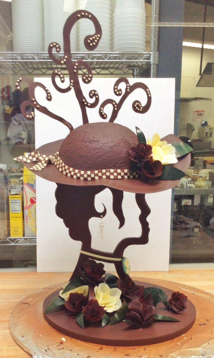 """3' chocolate centerpiece, inspired by the derby scene in """"My Fair Lady"""""""