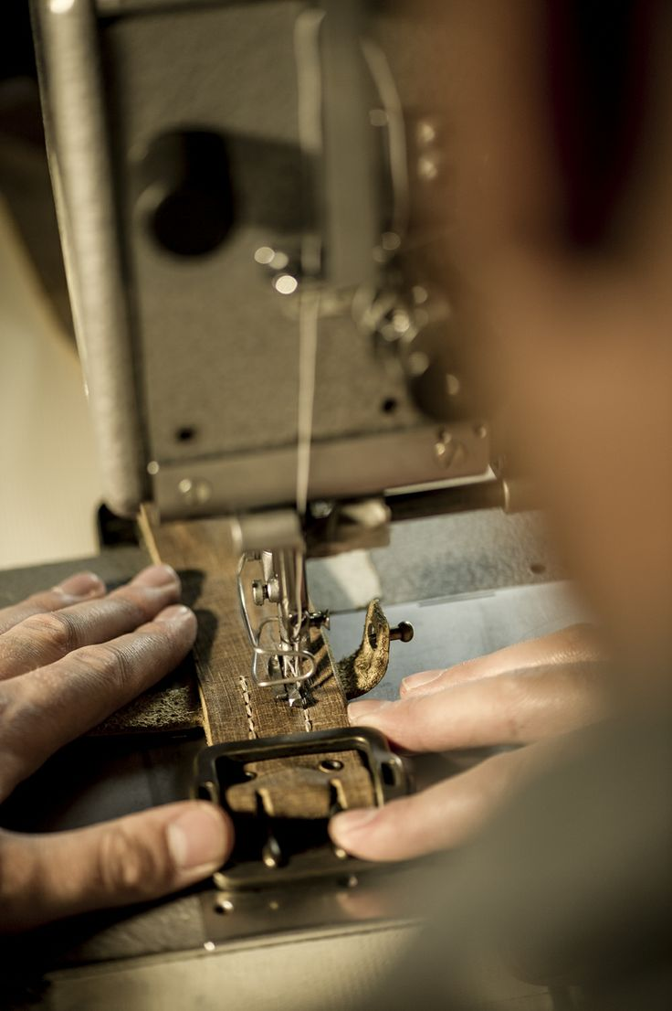 A belt being made. Time is love and it's all in the details.