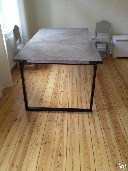 Betongbord:måttbeställda matbord och soffbord