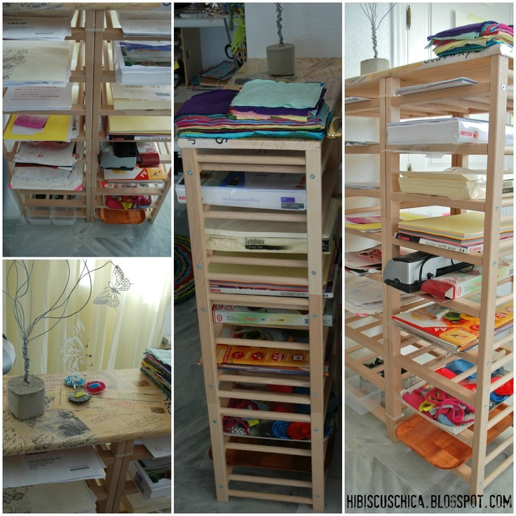 Craft room Organizer for paper with Ikea