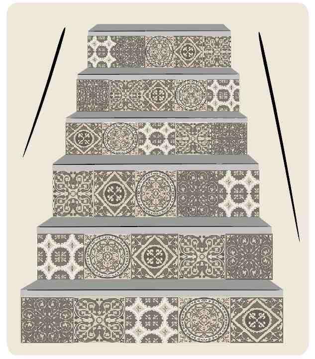 M s de 25 ideas incre bles sobre escaleras de baldosas en for Baldosas para escaleras