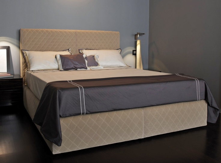The Coco bed is pure hotel luxury. The diamond patterned quilting and generous height will make any sleeper feel like they've just had a much-needed retreat weekend. Keep colour schemes classic in high-quality textiles. #LuxDeco #Design #Homeware