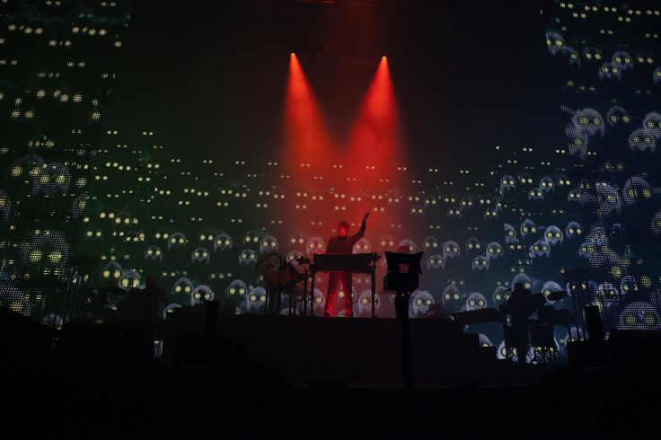 The godfather of the audiovisual stadium show, Jean-Michel Jarre at Sónar