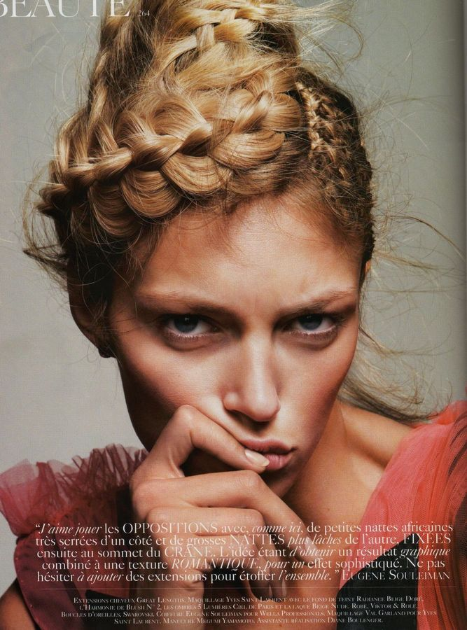 weaving + braids.: Hair Ideas, Anjarubik, Braids Hairstyles, Big Braids, Fashion, Vogue Paris, Hair Style, Hairstyles Ideas, Anja Rubik