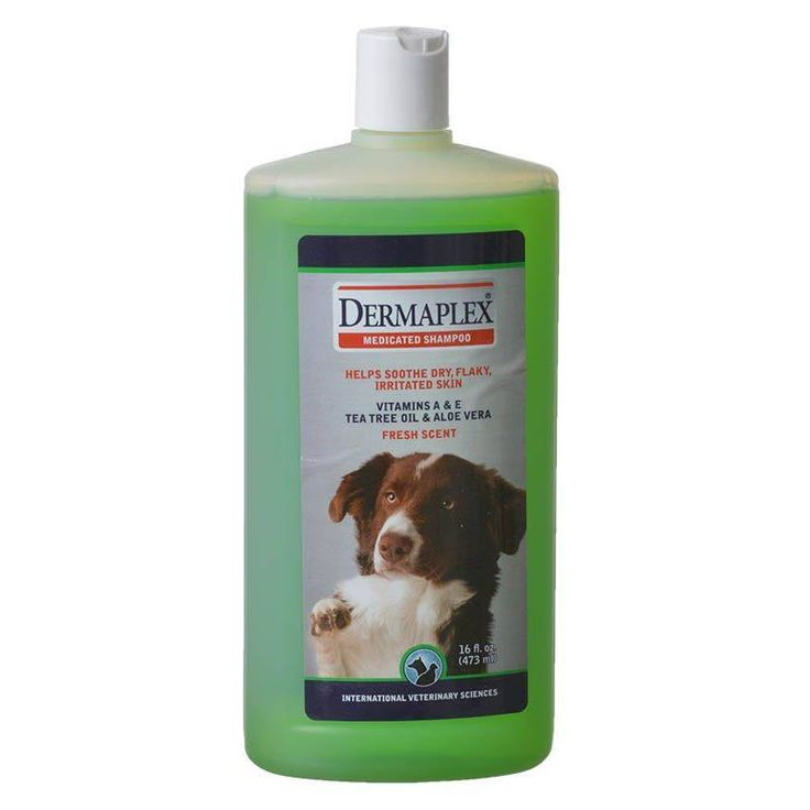 🐶 International Veterinary Sciences Dermaplex Shampoo is a medicated dog shampoo for the relief of dry, flaky, irritated skin. Dermaplex contains Micellized Vitamin A & E plus Aloe Vera and Tea Tree Oil.
