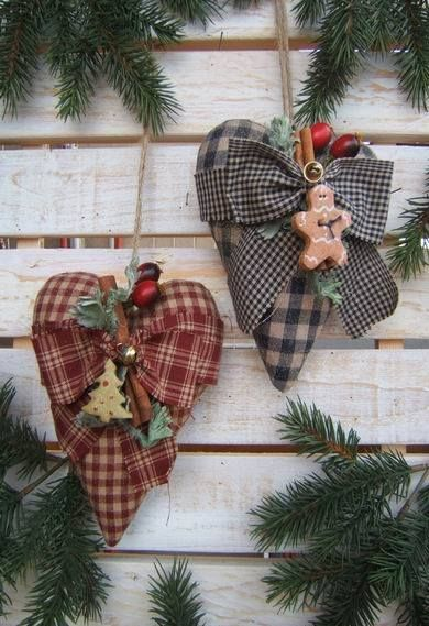 Love These Country Heart Ornaments....