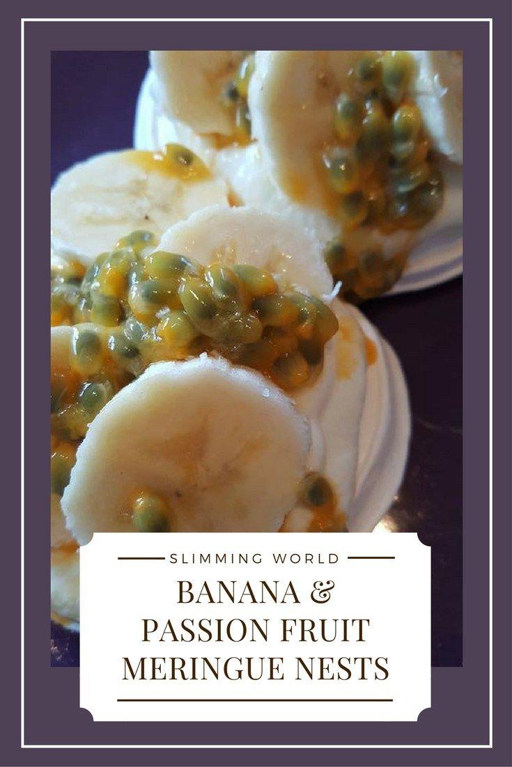 Banana And Passion Fruit Pavlova Nests - Slimming World