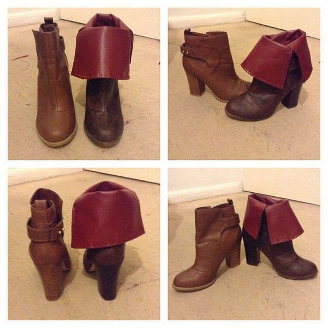 One of Triss's boots almost complete. Just need to add in the straps. Comparison…