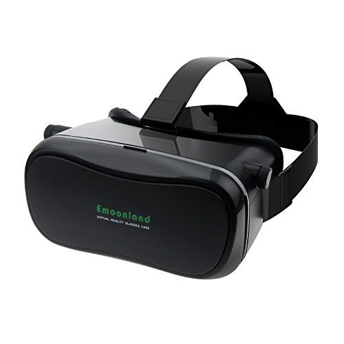 """3D VR GlassesEmoonland 3D VR Headset Virtual Reality Box Movie Game for iPhone 6S/6 Plus/6 Samsung Galaxy S5/S6 and Other 4.0"""" - 6.0"""" Cellphones - Black"""
