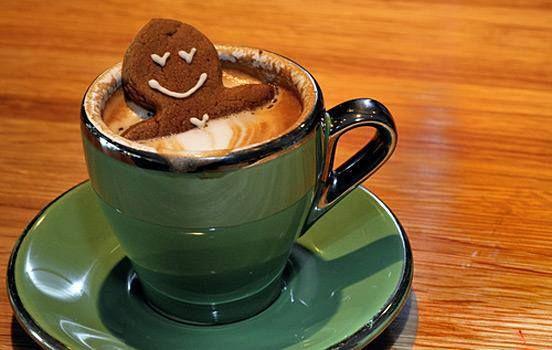 Gingerbread man Latte hot tub