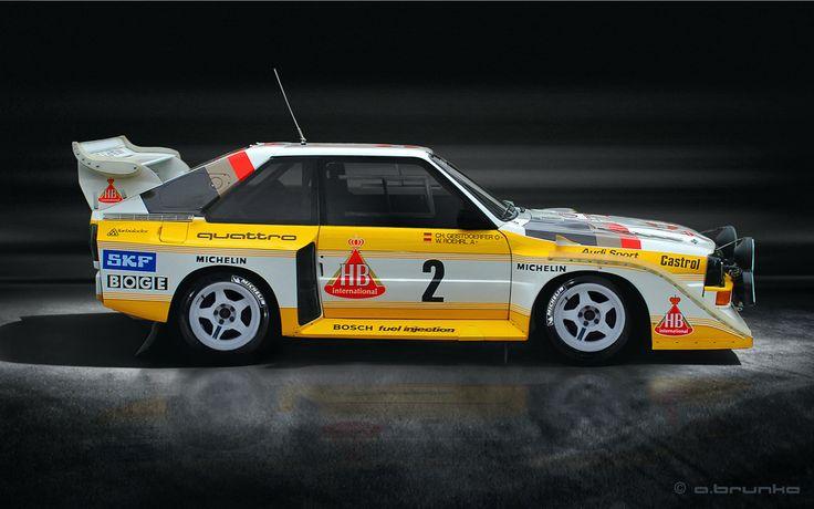 Audi Quattro Sport S1 Gruppe B 1985 - 1986 Walter Röhrl u. Chr. Geistdöerfer von Andreas Brunke