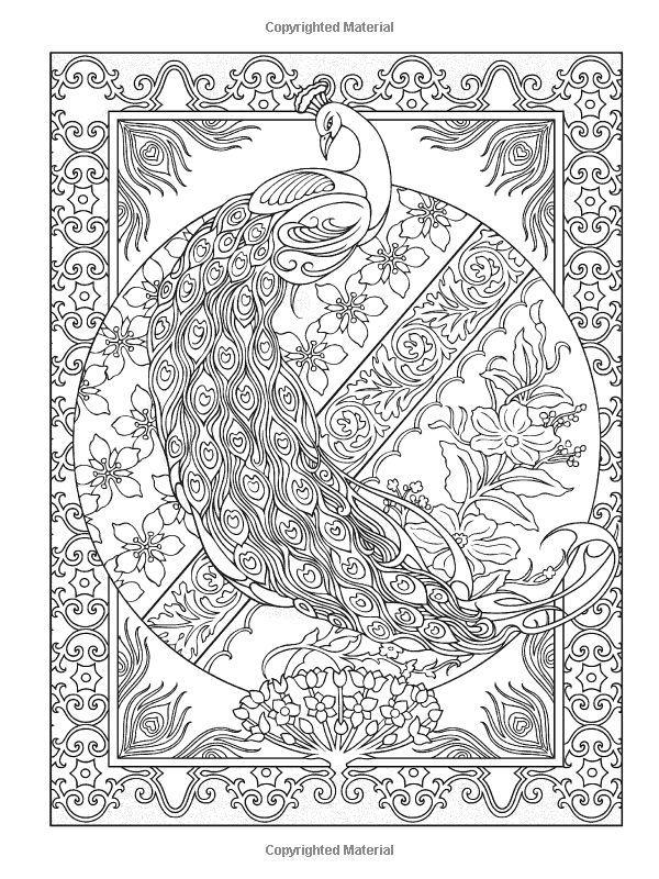 Creative Haven Peacock Designs Coloring Book (Creative Haven Coloring Books): Marty Noble, Creative Haven: 9780486779966: Amazon.com: Books: