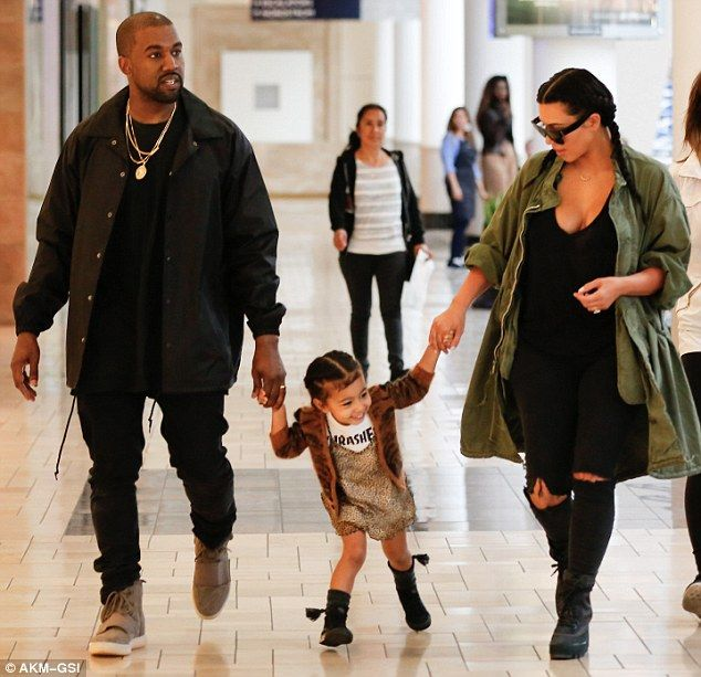 Sunday Funday: The 35-year-old reality star was spotted leading North West, aged two, to a Build-A-Bear shop at the Westside Pavilion mall in Los Angeles where kids can pick out a stuffed animal and fill it with fluff
