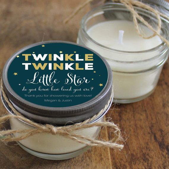 Twinkle Twinkle Little Star Baby Shower Favor Candles by lulusugar