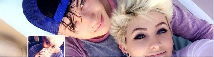 Paris Jackson (age 18) with boyfriend Michael Snoddy, April 2016