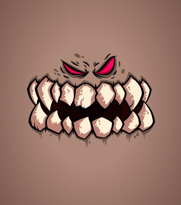 MONSTER FACES #1 by Daniel Ferenčak, via Behance
