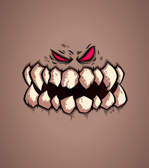#Monster #Faces by Daniel Ferenčak, #Cartoons & #Comics, #Character, #Illustration, #Print, #T-Shirt