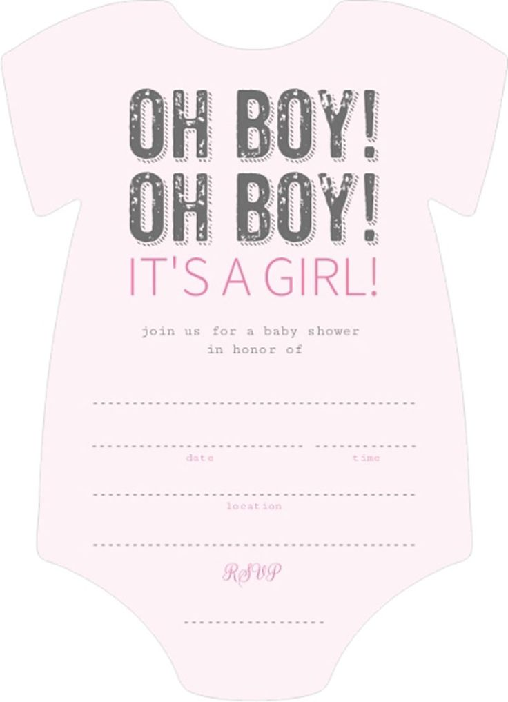 enticing light pink and black oh boy it is girl fill in blank baby shower invitation template