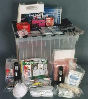 A disaster supplies kit is simply a collection of basic items your household may need in the event of an emergency