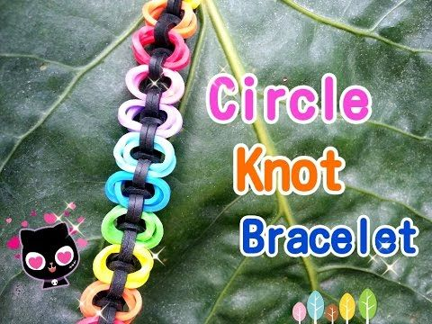 Circle Knot Rainbow Loom Monster Tail Bracelet Tutorial ~ How To - YouTube