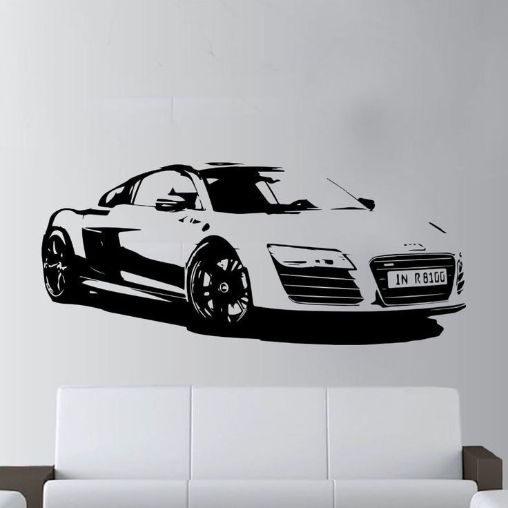 57x130cm Fashion Large Car Audi R8 Coupe Sports Wall Art Decal Home Decor Racing Car Wall paper Art Vinyl Art Mural KW-331 //Price: $15.01 & FREE Shipping //     #hashtag1