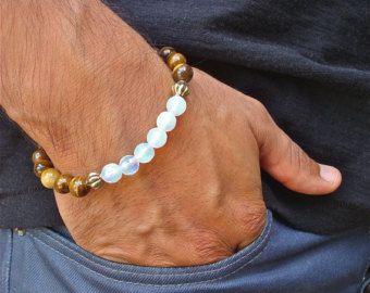 Bonne Fortune Bracelet Semi précieuse Pierre de par tocijewelry