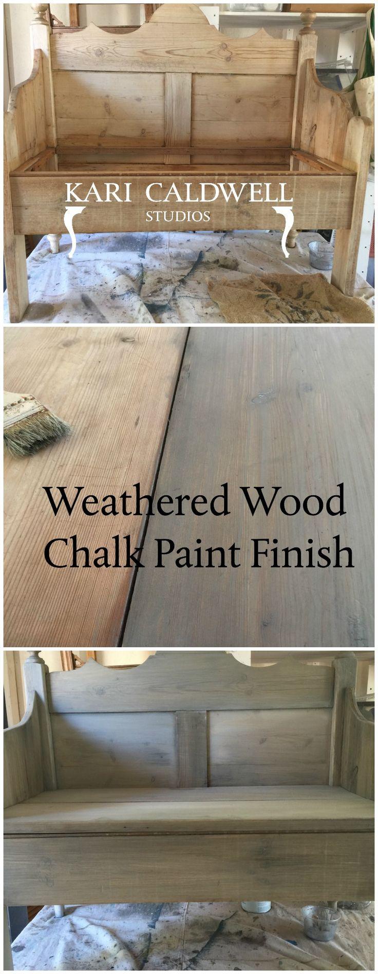 Create Driftwood On Raw Wood Annie Sloan Chalk Paint In 2019 Raw Wood Driftwood Furniture