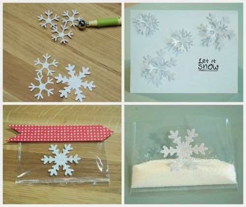 This looks fun although possibly a bit messy? Send snow in a card!  www.blitsycrafts.com