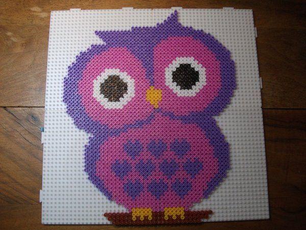 Owl hama perler beads by Nath Hour