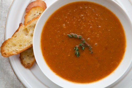 """Roasted Tomato Soup (recipe) - """"In this recipe from Chef Ray Garcia,"""