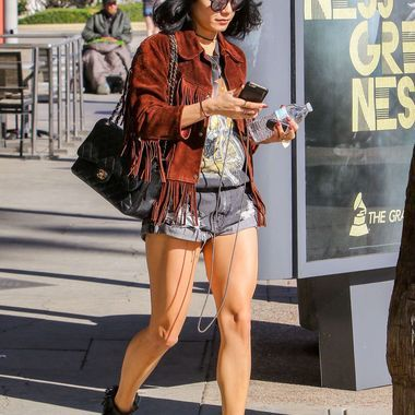 Vanessa Hudgens Leggy in Shorts out in Los Angeles