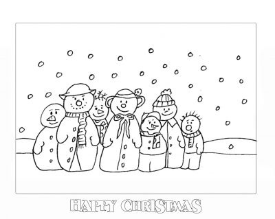 christmas pictures to colour in!