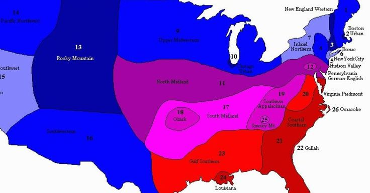 Which American English Do You Speak? This Map Shows the Dialects Of the USA- lots of videos of dialects