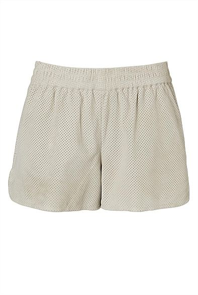 Perforated Suede Shorts #witcherywishlist