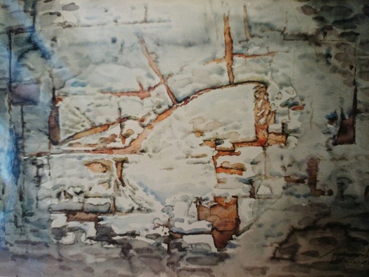 Jacek Jaroszewski -bez tytułu - watercolour, 1996 (512)