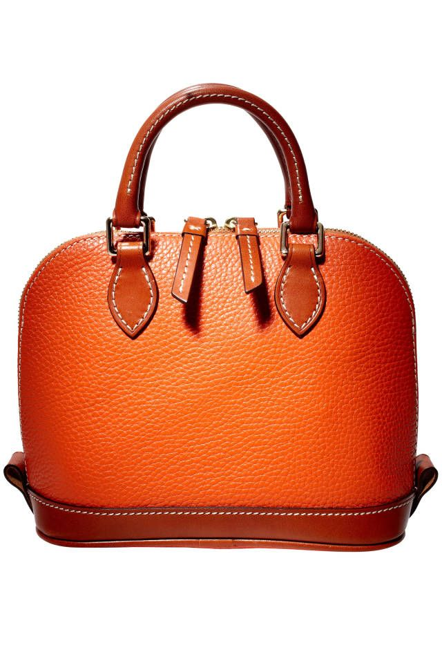 A pop of orange adds the perfect punch to any outfit.