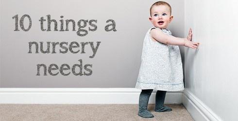OHbaby! 10 things a nursery needs