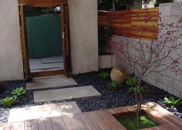 Good Example Of Cinder Block Stone Wood And Black Star