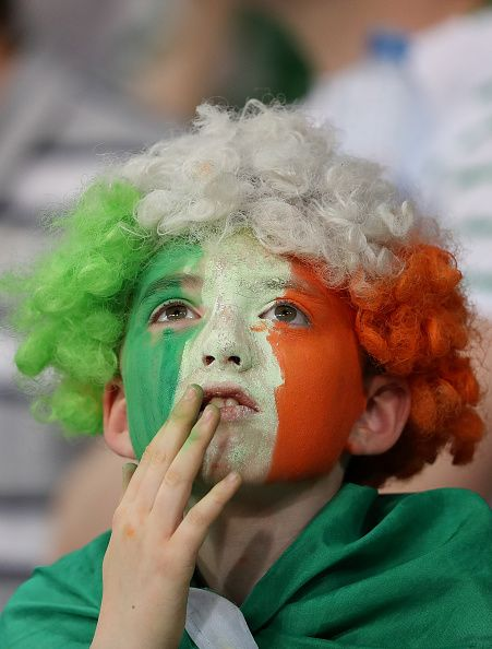 #EURO2016 A young Ireland fan looks on during the UEFA EURO 2016 Group E match between Italy and Republic of Ireland at Stade PierreMauroy on June 22 2016 in...