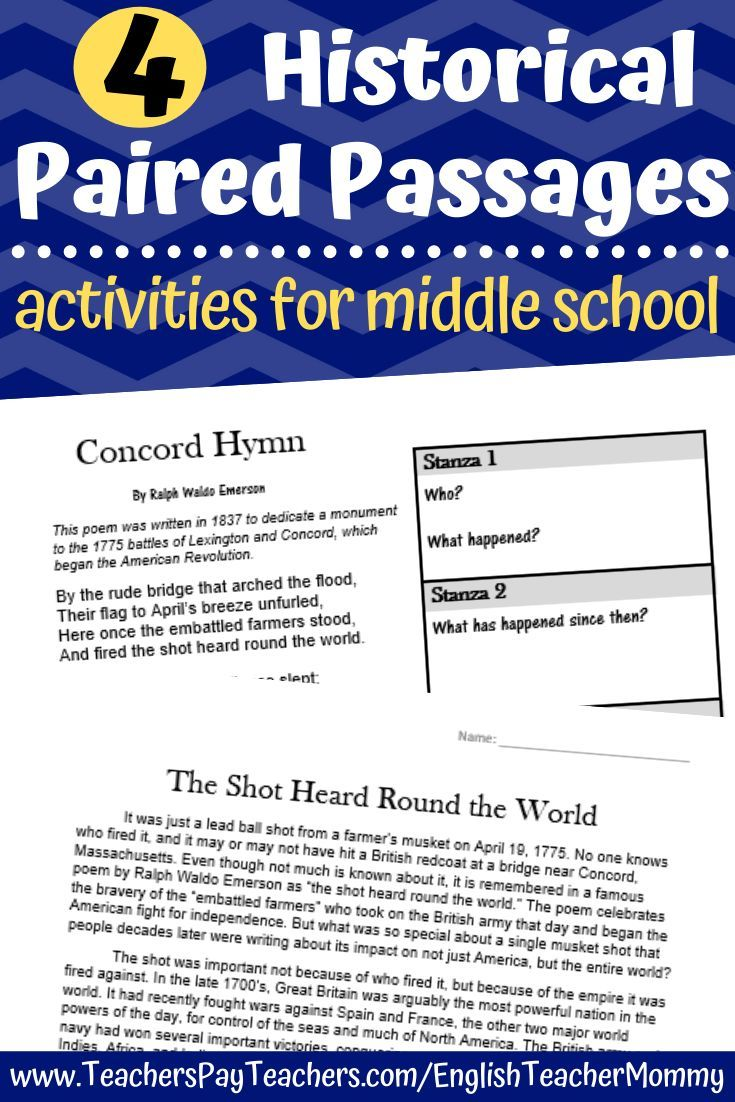 Poetry With Informational Text Paired Passages Printable Digital Paired Passages Poetry Middle School Middle School [ 1102 x 735 Pixel ]