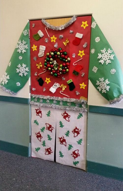 33 amazing classroom doors for winter and the holidays christmas rh pinterest com Classroom Door Decorated for Christmas Red White Christmas Designs for the Classroom Door