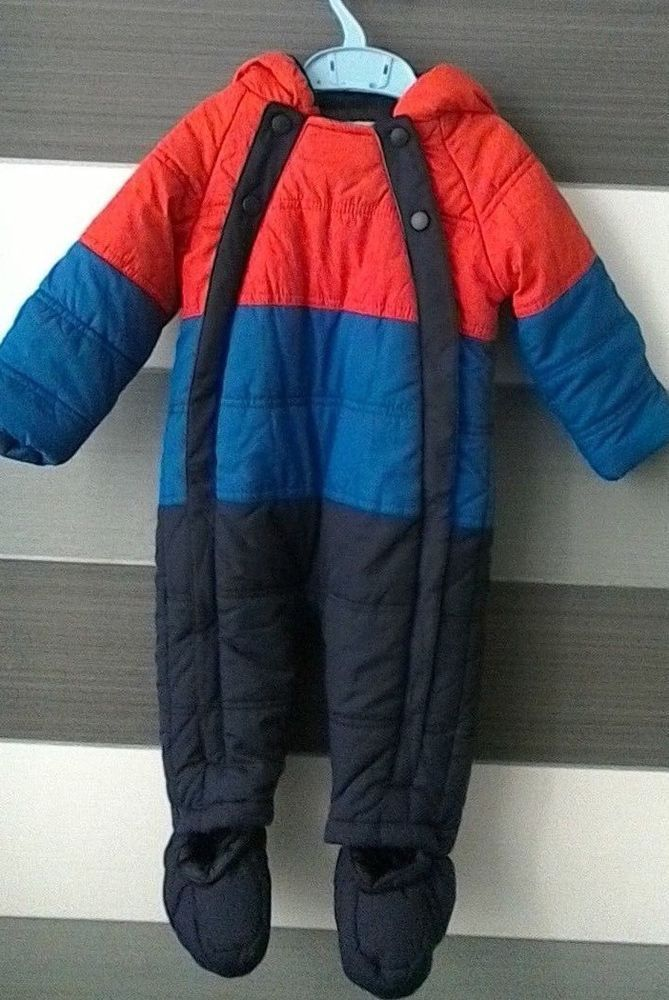 345d8c00f Baby Boys Marks and Spencer Snowsuit Pramsuit 9-12 months ...