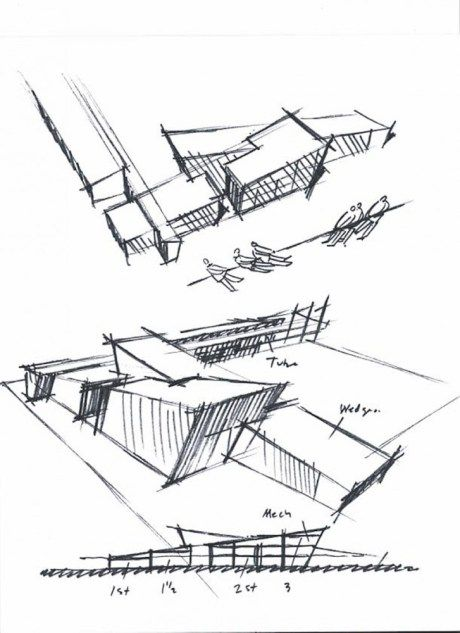 Architecture concept sketches google search for Form space and design architects
