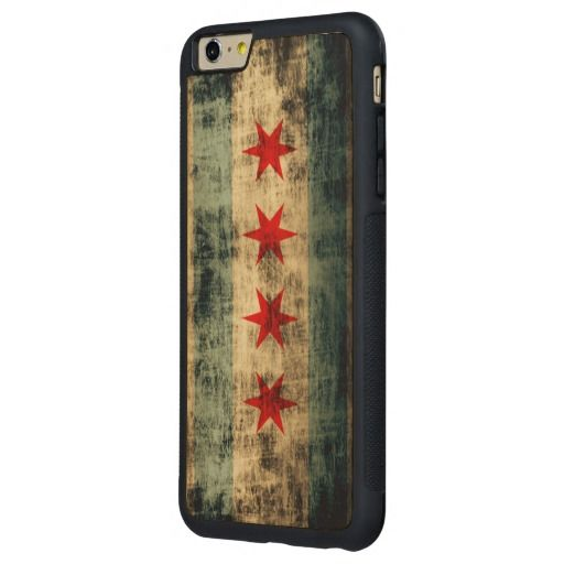 Vintage Grunge Flag of Chicago Carved® Maple iPhone 6 Plus Bumper Case
