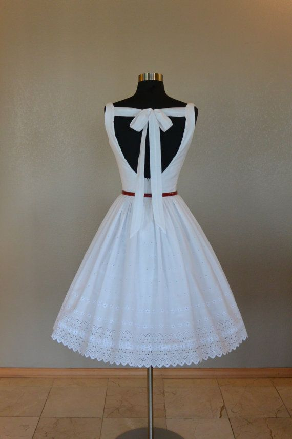 Wedding Dress Tea Length SWEET SUMMERTIME by FrenchKnotCouture, $425.00
