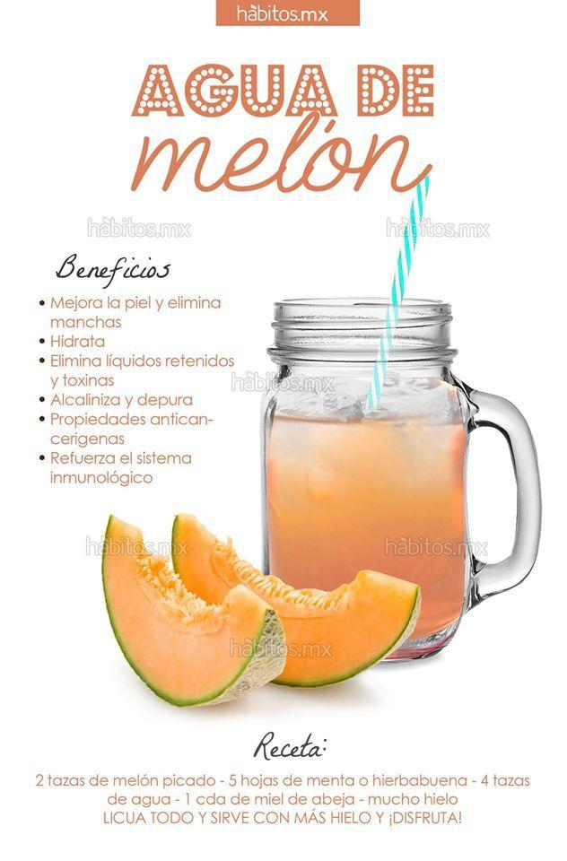 Beneficios del agua de meløn