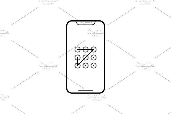 Pattern Lock Icon Lock Icon Graphic Design Resources Icon Design