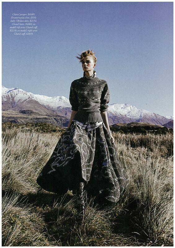Inder Dhillon's Scott Embellished Evening Skirt in Harpers Bazaar Australia October Issue
